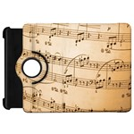 Music Notes Background Kindle Fire HD Flip 360 Case Front