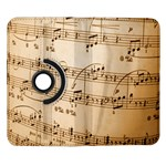 Music Notes Background Samsung Galaxy Note II Flip 360 Case Front