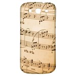 Music Notes Background Samsung Galaxy S3 S III Classic Hardshell Back Case Front