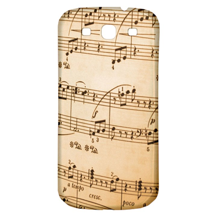Music Notes Background Samsung Galaxy S3 S III Classic Hardshell Back Case