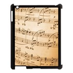Music Notes Background Apple iPad 3/4 Case (Black) Front
