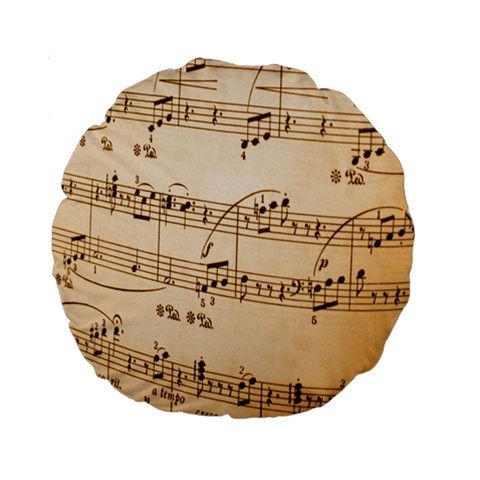 Music Notes Background Standard 15  Premium Round Cushions