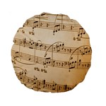 Music Notes Background Standard 15  Premium Round Cushions Front