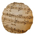 Music Notes Background Large 18  Premium Round Cushions Front