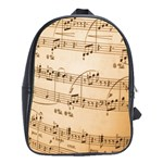 Music Notes Background School Bags (XL)  Front