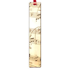 Music Notes Background Large Book Marks