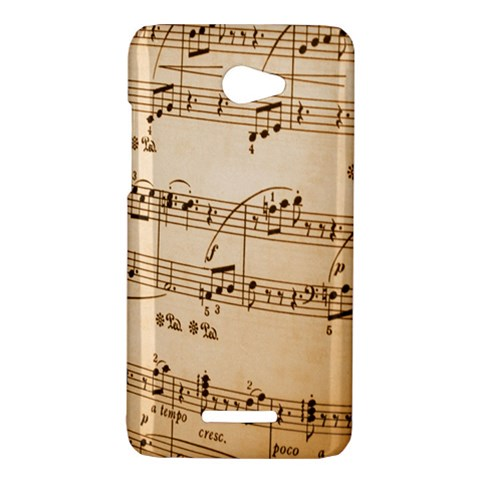 Music Notes Background HTC Butterfly X920E Hardshell Case