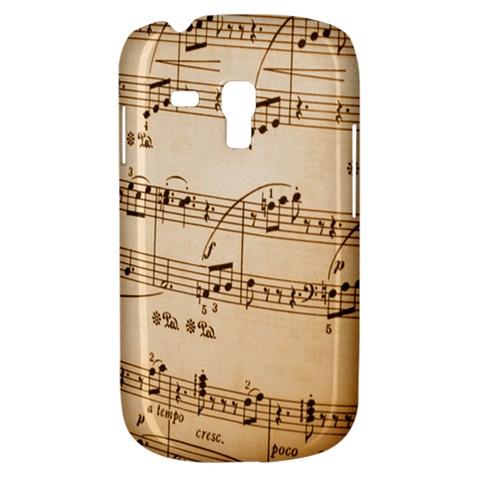 Music Notes Background Samsung Galaxy S3 MINI I8190 Hardshell Case