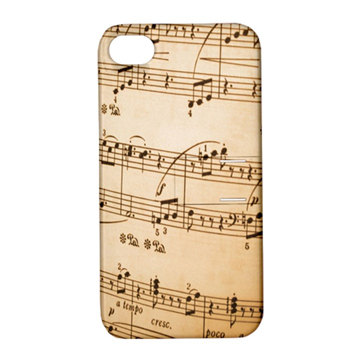 Music Notes Background Apple iPhone 4/4S Hardshell Case with Stand