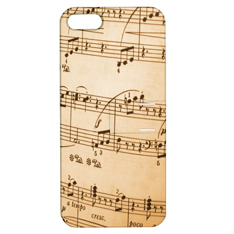 Music Notes Background Apple iPhone 5 Hardshell Case with Stand