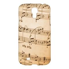 Music Notes Background Samsung Galaxy S4 I9500/I9505 Hardshell Case