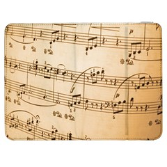 Music Notes Background Samsung Galaxy Tab 7  P1000 Flip Case