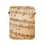 Music Notes Background Apple iPad 2/3/4 Protective Soft Cases Front