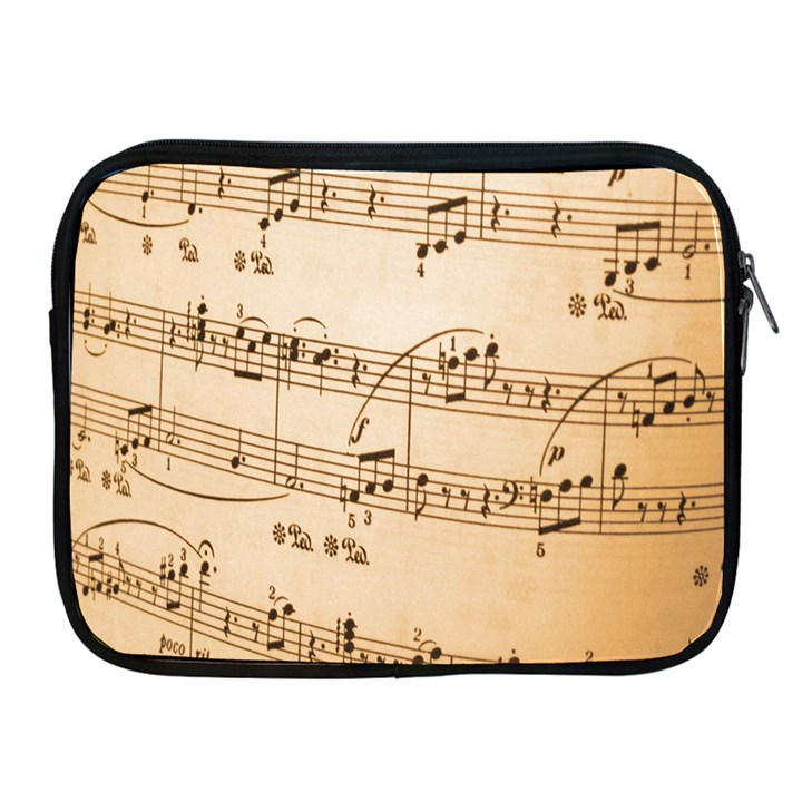 Music Notes Background Apple iPad 2/3/4 Zipper Cases