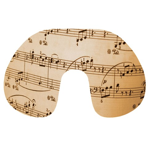 Music Notes Background Travel Neck Pillows