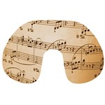 Music Notes Background Travel Neck Pillows Front