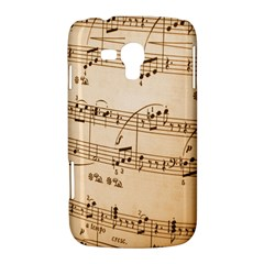 Music Notes Background Samsung Galaxy Duos I8262 Hardshell Case