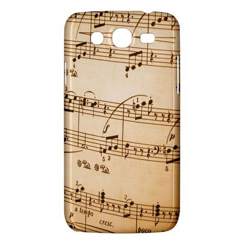 Music Notes Background Samsung Galaxy Mega 5.8 I9152 Hardshell Case
