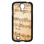 Music Notes Background Samsung Galaxy S4 I9500/ I9505 Case (Black) Front