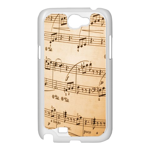 Music Notes Background Samsung Galaxy Note 2 Case (White)