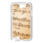 Music Notes Background Samsung Galaxy Note 2 Case (White) Front