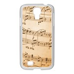 Music Notes Background Samsung GALAXY S4 I9500/ I9505 Case (White) Front