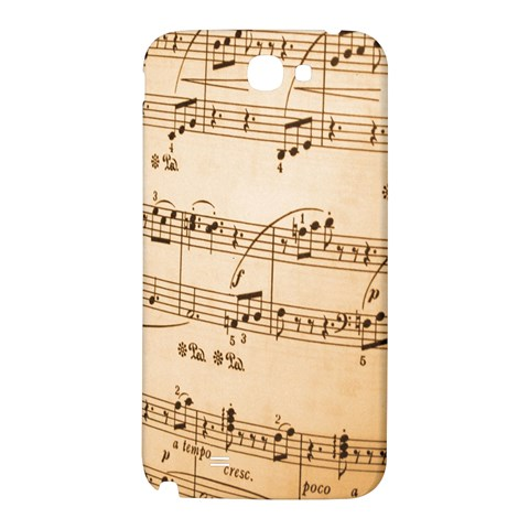 Music Notes Background Samsung Note 2 N7100 Hardshell Back Case