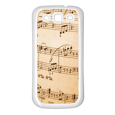 Music Notes Background Samsung Galaxy S3 Back Case (White)