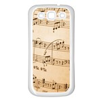 Music Notes Background Samsung Galaxy S3 Back Case (White) Front