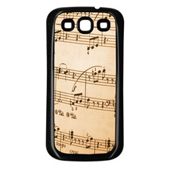 Music Notes Background Samsung Galaxy S3 Back Case (Black)