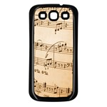 Music Notes Background Samsung Galaxy S3 Back Case (Black) Front