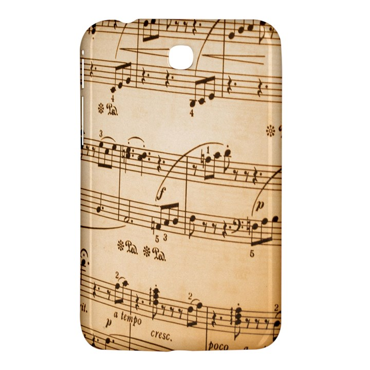 Music Notes Background Samsung Galaxy Tab 3 (7 ) P3200 Hardshell Case