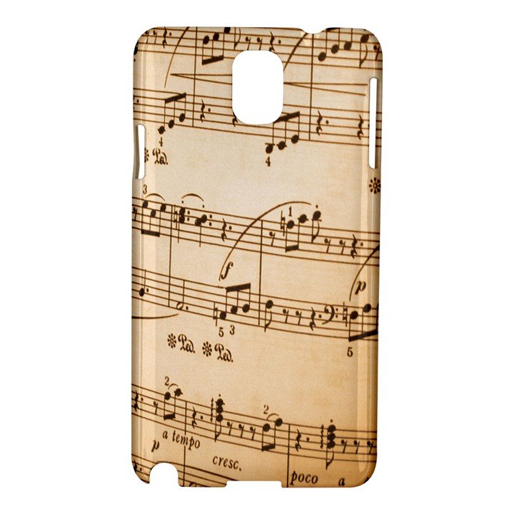 Music Notes Background Samsung Galaxy Note 3 N9005 Hardshell Case