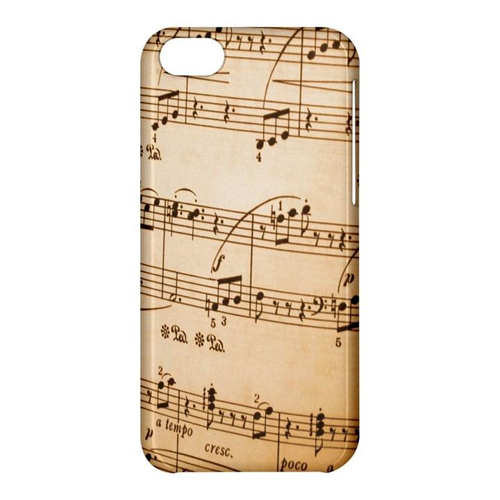 Music Notes Background Apple iPhone 5C Hardshell Case