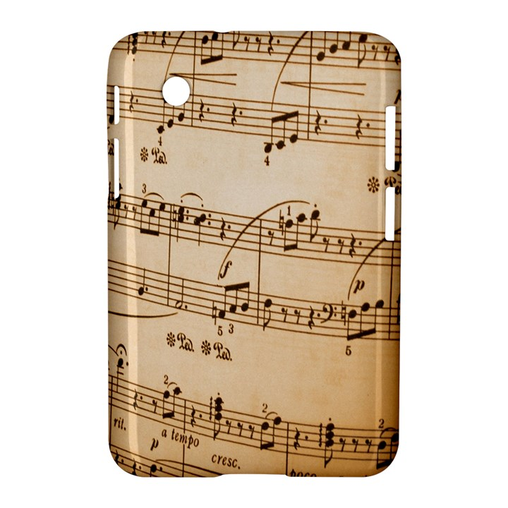 Music Notes Background Samsung Galaxy Tab 2 (7 ) P3100 Hardshell Case