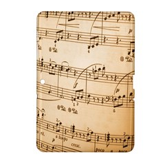 Music Notes Background Samsung Galaxy Tab 2 (10.1 ) P5100 Hardshell Case