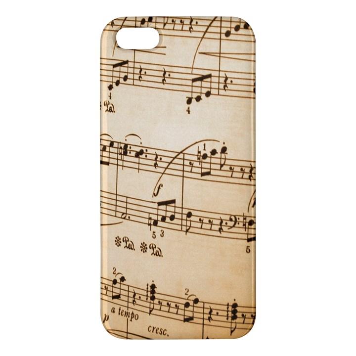 Music Notes Background iPhone 5S/ SE Premium Hardshell Case