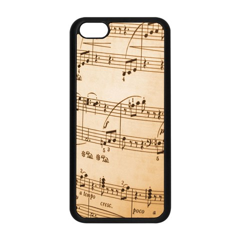 Music Notes Background Apple iPhone 5C Seamless Case (Black)