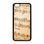 Music Notes Background Apple iPhone 5C Seamless Case (Black) Front