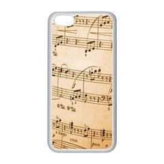 Music Notes Background Apple iPhone 5C Seamless Case (White)