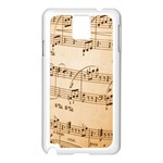 Music Notes Background Samsung Galaxy Note 3 N9005 Case (White) Front