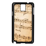 Music Notes Background Samsung Galaxy Note 3 N9005 Case (Black) Front