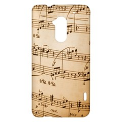 Music Notes Background HTC One Max (T6) Hardshell Case