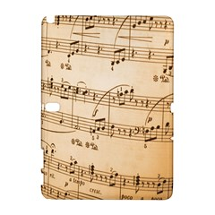 Music Notes Background Samsung Galaxy Note 10.1 (P600) Hardshell Case
