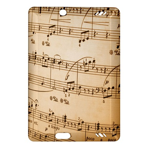 Music Notes Background Amazon Kindle Fire HD (2013) Hardshell Case
