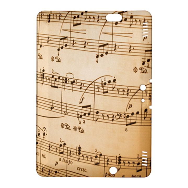 Music Notes Background Kindle Fire HDX 8.9  Hardshell Case