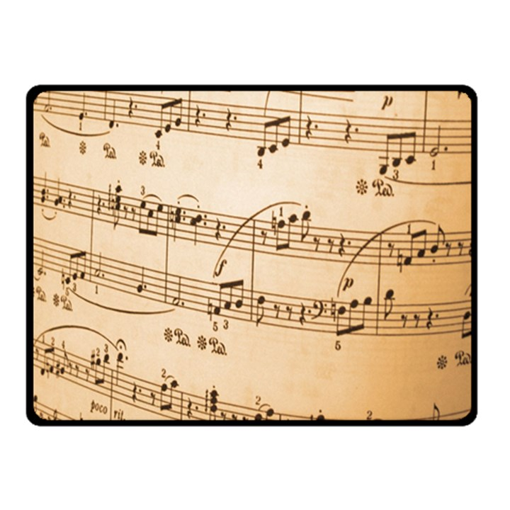 Music Notes Background Double Sided Fleece Blanket (Small)