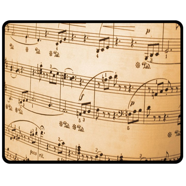 Music Notes Background Double Sided Fleece Blanket (Medium)