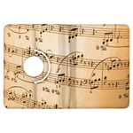 Music Notes Background Kindle Fire HDX Flip 360 Case Front