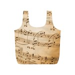 Music Notes Background Full Print Recycle Bags (S)  Back